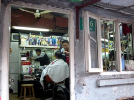 alleyway barber shop
